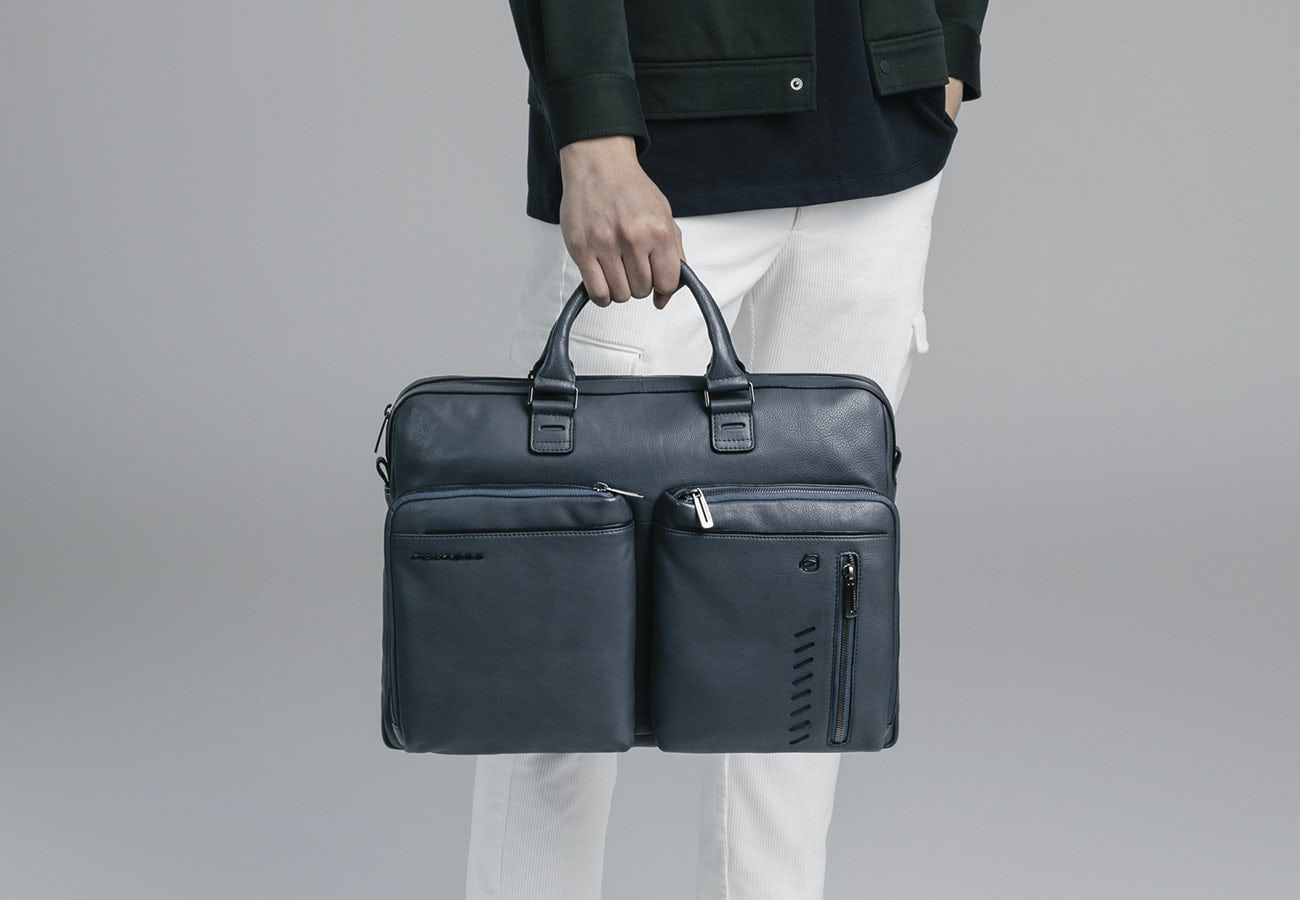 Two-handle laptop bags