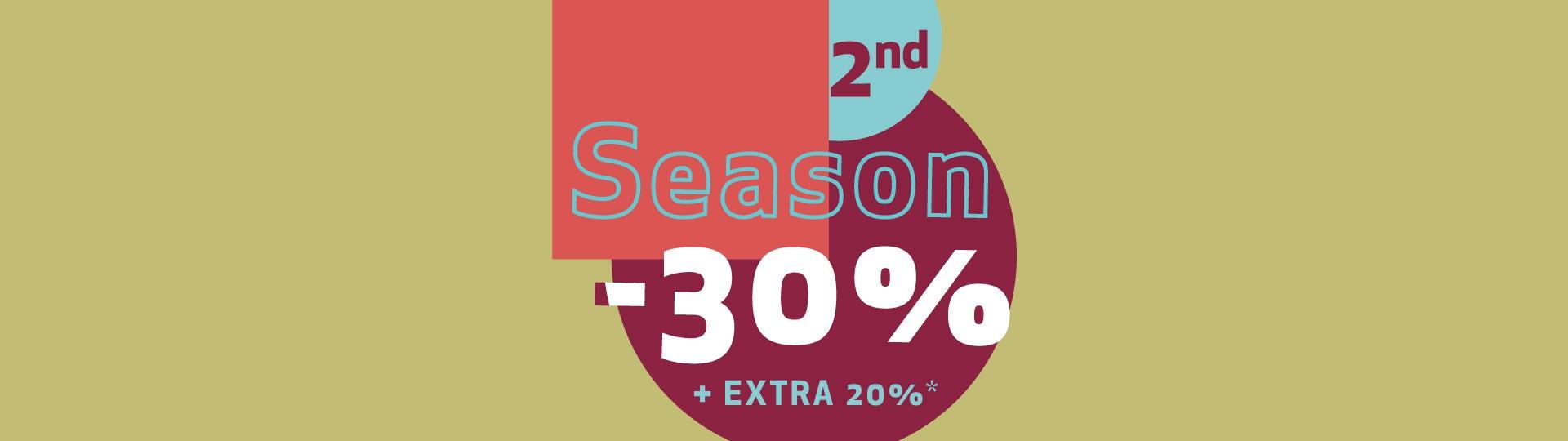 второй сезон - 30%