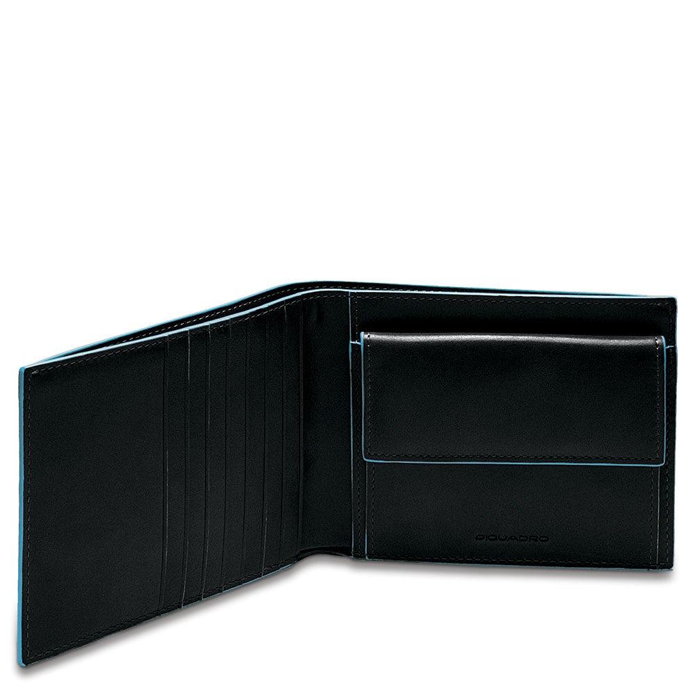Portafoglio Piquadro blue square portamonete PU1239B2R mogano