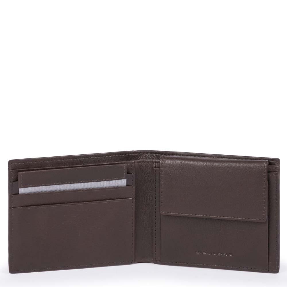 1f89d4c39a Portafoglio uomo con portamonete, porta carte di   Shop Piquadro