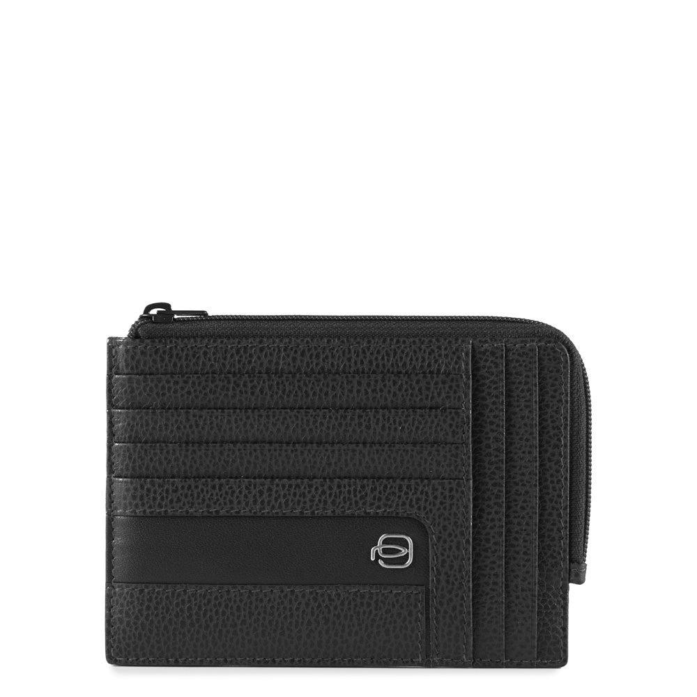 Porte-monnaie zippé avec porte-cartes de crédit e - Portefeuilles ... 1847fb2c738