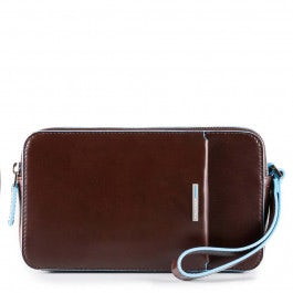 Men's wrist clutch bag with front slip pocket