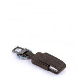Portachiavi in pelle con chiavetta USB da 16 GB