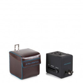 Electric adaptor with leather case, four different