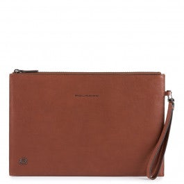 Big size, iPad® men's clutch with pocket for glasses and wrist strap