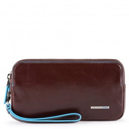 Clutch with two dividers, money pocket, credit card slots and RFID anti-fraud protection
