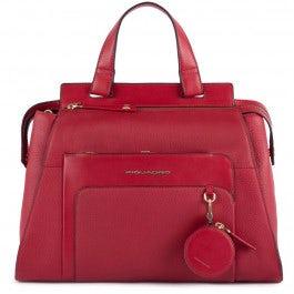 Women's handbag with coin case charm