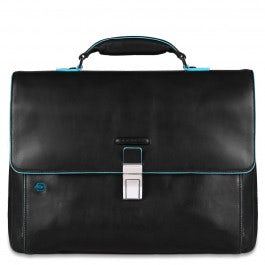 Expandable computer portfolio briefcase with