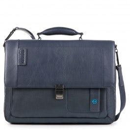Flap-over, expandable computer bag
