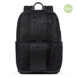 Laptop and iPad® backpack in recycled fabric with
