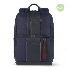 Computer and iPad® backpack in recycled fabric wit