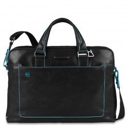 Computer portfolio briefcase with iPad® compartment, umbrella and bottle pocket