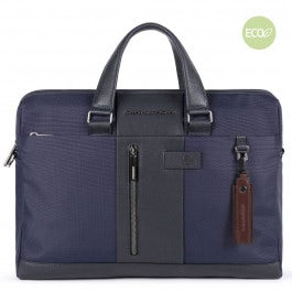 Laptop portfolio briefcase in recycled fabric with