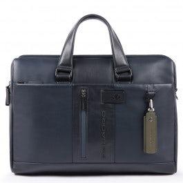 Computer portfolio briefcase with iPad® compartmen