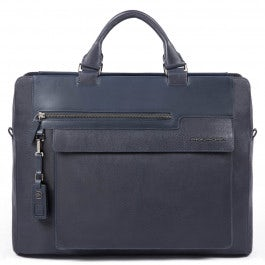 Computer portfolio briefcase with two dividers