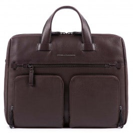 Computer portfolio briefcase with two front pocket