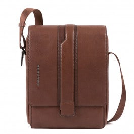 Flap-over crossbody bag with iPad® compartment