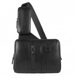 Mono sling bag with iPad® compartment, eyelet for