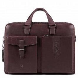 Portfolio computer briefcase with iPad® compartmen