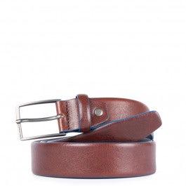 Cintura 35 mm in pelle con fibbia ad ardiglione