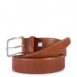 Cintura 35 mm in pelle stampata con ardiglione