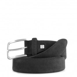 Men's belt in suede with prong buckle