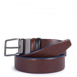 Cintura uomo reversibile con fibbia ad ardiglione