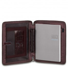 Notepad holder with iPad® compartment, credit card