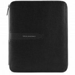 Notepad holder with iPad® compartment and pen loop