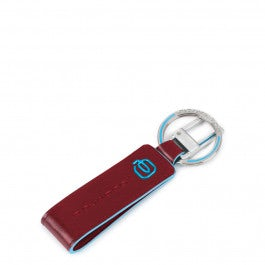 Keychain with leather insert