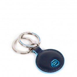 Round keychain with two rings