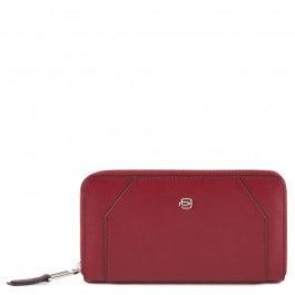 Zip-around women's wallet with 4 dividers, coin