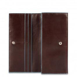 Damengeldbörse aus Leder mit Überschlag