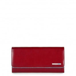 Women's flap-over wallet with detachable pouch