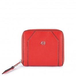 Zip-around women's wallet with coin case, credit