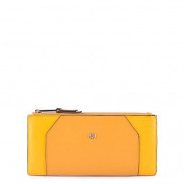Women's wallet with two zipper compartments