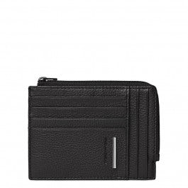 Document and credit card holder with coin pouch