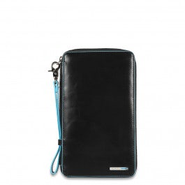 Travel document holder with credit