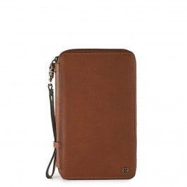 Travel document holder with credit card slots, pen