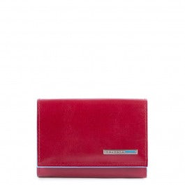 Business card case with zipped money pocket