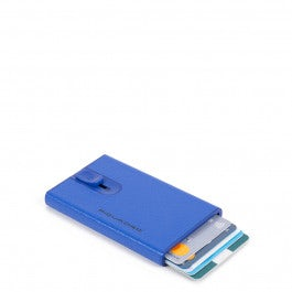 Credit card case with sliding system