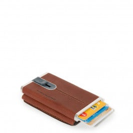 Compact wallet for banknotes and credi cards with