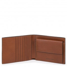 Men's wallet with coin case and credit card slots