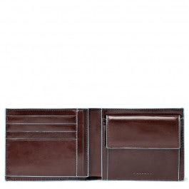 Men's wallet with coin case and document holder