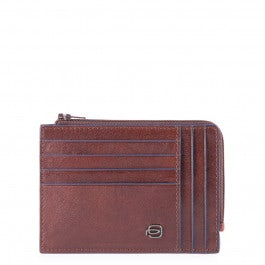 Zipper coin pouch with document holder, creditcard