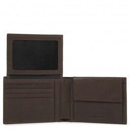 Herrenbrieftasche mit Klapp-Ausweisfenster, Münz-