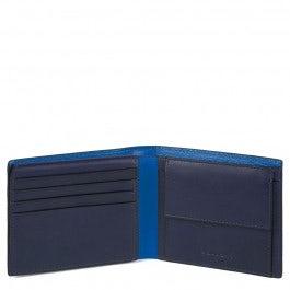 Portafoglio uomo con porta documenti, portamonete