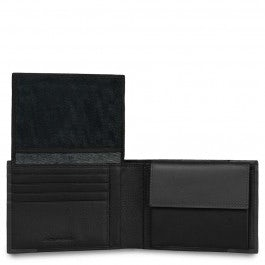 Men's wallet with flip-up ID window, coin pocket a