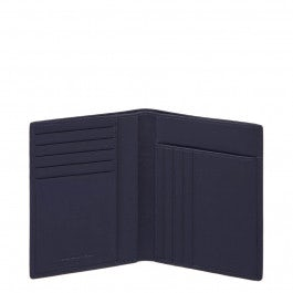 Vertical men's wallet with banknote, credit card