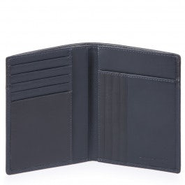Vertical men's wallet with banknote, credit